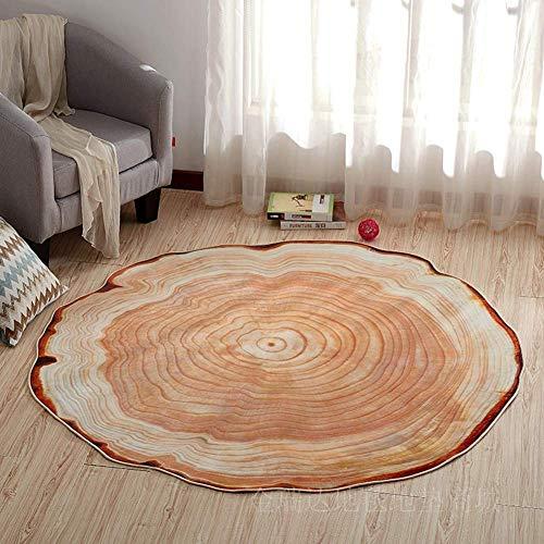 SXCarpet 3D Teppich Moderne Kofferraummuster Wohnzimmer Anti-Rutsch-Matte runden Couchtisch Teppich waschbar Wohnkultur -