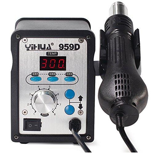Preisvergleich Produktbild YIHUA 959D Digital Heißluftstation 100 bis 500 650W SMD Rework Station + 3 Düsen