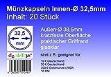 deaL-Toys 20 Münzkapseln 32,5mm, Geeignet für 10 DM, 10 Euro / 20 Euro Deutschland, 200 Euro Goldmünze (2002)