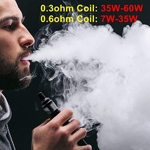 E Zigarette Starter Set, AOKEY 60W 3 Stück Coils (2*0.3oHm+1*0.6oHm) 2000 mAh Akku Einstellbare Vape Box Mod Kit, 2.0ml Verdampfer Kopf Tank OLED Bildschirm, E-Zigaretten E Shisha