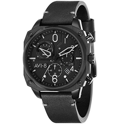 Montre Homme - AVI-8 - HAWKER HUNTER - Cuir - 45mm - AV-4052-06
