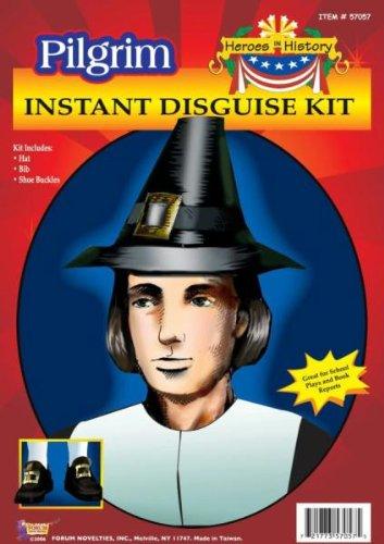 heroes-in-history-pilgrim-man-disguise-kit-includes-hat-bib-shoe-buckles-hute-weitere-kopfbedeckunge