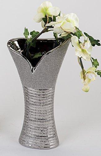 Moderno Jarrón decorativo jarrón de cerámica con diseño de colour plata con...