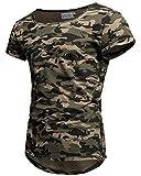 Crone Herren Kurzarm Rundhals Basic Oversize Slim Fit T-Shirt (M, Camouflage)