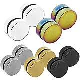 1 Paar Magnetische Fakeplugs Fake Plug Tunnel Ohr Magnet Ohrclips Ohne Loch 6 8 10 12mm Weiß Schwarz Rainbow Piercing