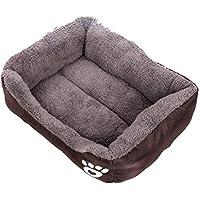 FastDirect Animales Cama para Perros Pata Estampado Lavable Suave y Suave Cama para Mascotas Suministros para