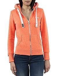 Superdry Damen Kapuzenpullover Orange Label Primary Ziphood