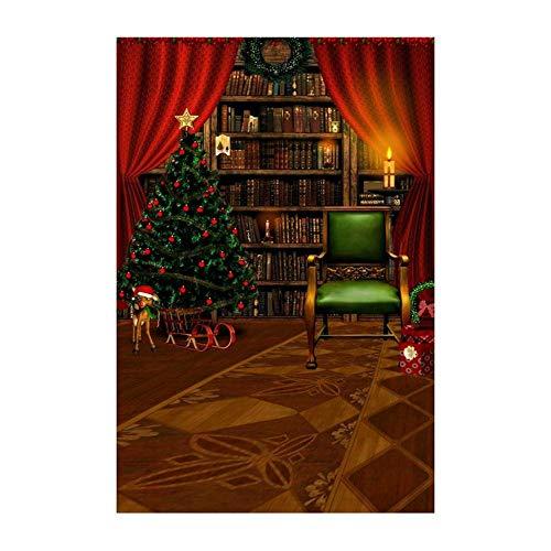 ODJOY-FAN Weihnachten Dekoration Hintergrund, 3D Fotografie Hintergrund 3D Aufkleber Schneemann Hintergründe Photography Background Vinyl Laterne Hintergrund (90x150cm) (B,1 PC)