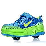 Enfants chaussures à roulettes double roue chaussures de sport technique extérieur...