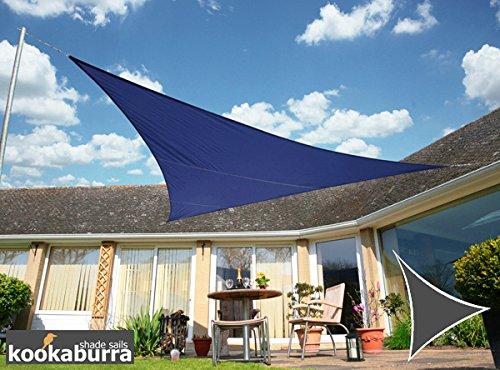 Kookaburra Waterproof Blue Shade Sail 3.6m triangle