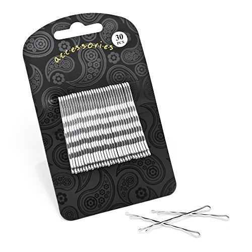 Three Piece Glitter Snap Clip & Bow Clip Set Silver