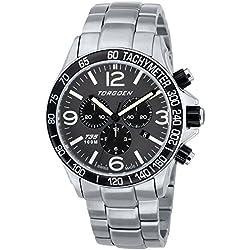 TORGOEN Swiss Herren-Armbanduhr Chronograph Quarz Edelstahl T35202