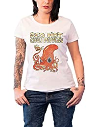 Red Hot Chili Peppers T Shirt Squid logo offiziell damen Skinny Fit