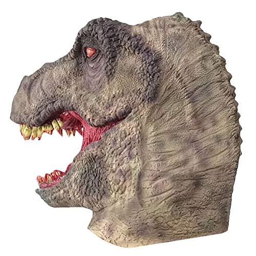 Kostüm Wirklich Beängstigend - Happyyami Dinosaurier Halloween Maske Maskerade Cosplay Masken Kostüm beängstigend Stütze für Bar und Party