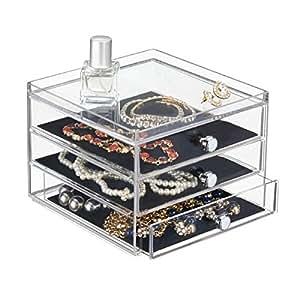 mdesign schubladenbox die aufbewahrungsbox mit drei schubladen beispielsweise als schmuck. Black Bedroom Furniture Sets. Home Design Ideas
