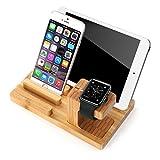 IIEasy Apple Watch Stand,Multifunktions Version- Holz Stand docking station Ladestation Halterung...