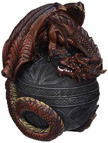 Design Toscano Drachenbeschützer des keltischen Orb, Skulpturales Kästchen