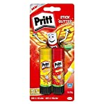 Pritt Stick Glitter Multipack/Red and yellow glitter glue stick for colourful crafting at home or at school/2 x 20g