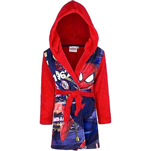 Peignoir polaire Spiderman 8 ans robe de chambre capuche rouge