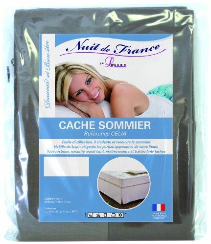 Nuit de France 200/200 329372 Bettvolant, Baumwolle, 200 x 200 x 1 cm, Taupe