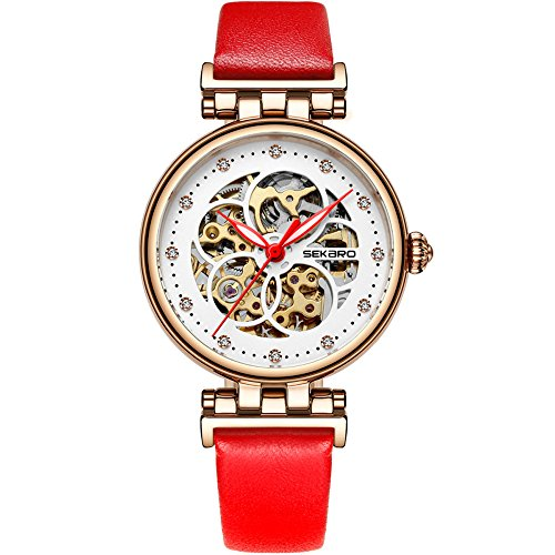 1fe8177f9 Women's Wrist Watch Five Hollow Rings Dial Automatic Mechanical Brand  Fashion Leather Strap Waterproof