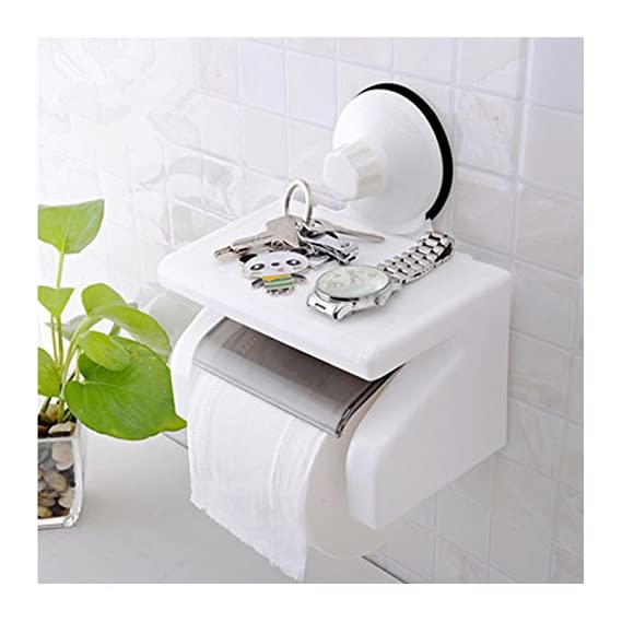 Home Reside Simple And Fashion Waterproof Bathroom Toilet Tissue Paper Roll Holder With Power Suction Cup