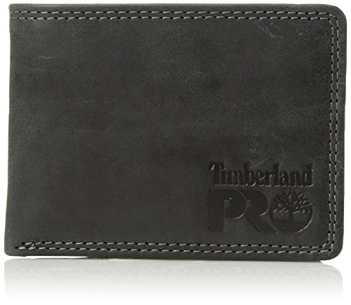6e8479537df20c Timberland PRO Men's Leather RFID Wallet with Removable Flip Pocket Card  Carrier, Black/Brandy