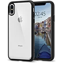 Coque iPhone X, Spigen® [Ultra Hybrid] AIR CUSHION [Noir Matte] Transparent / TPU Bumper / Coque pour Apple iPhone X (2017) - (057CS22129)