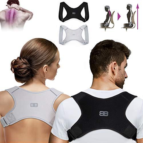 Back Bodyguard Haltungskorrektur - Innovativer Geradehalter für eine aufrechte Körperhaltung - Unauffällige Rückenstütze mit maximalem Tragekomfort - Inkl. Aufbewahrungstasche - Rückenstabilisator
