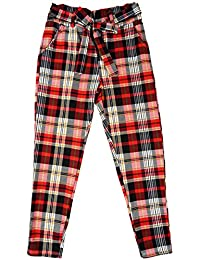 e389d05cc12 Italy Moda Girls Check Tartan Plaid Capri Pants Checked Peg Tapered  Trousers Sizes from 3 to