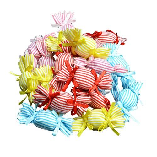 Fenteer 20 Stück Süßigkeiten Form Haarschmuck Zum Basteln Dekorieren Verzieren für Schmuckherstellung Kleidung