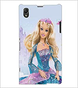 PrintDhaba Barbie Queen D-1024 Back Case Cover for SONY XPERIA Z1 (Multi-Coloured)