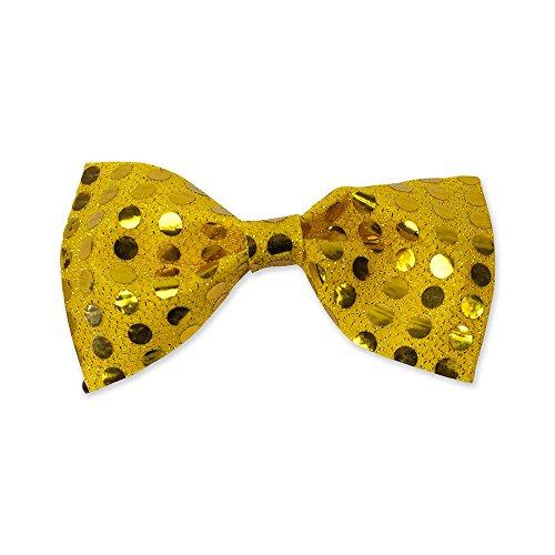 0Fliege Pailletten Gold, One Size (Gold Pailletten Kleid Kostüm Ideen)