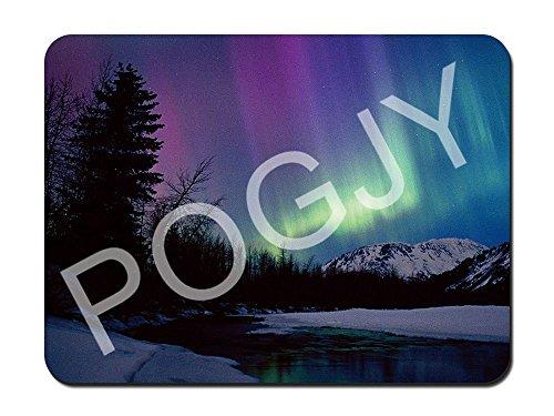 Preisvergleich Produktbild POGJY Gaming Mauspad 9.25 x 7.75 Inches,  Mousepad,  Verbessert Präzision und Geschwindigkeit,  Gummiunterseite für Stabilen Halt auf Glatten Oberflächen,  Rutschfest,  Strapazierfähig Schwarz - Nordlichter 1 image 737
