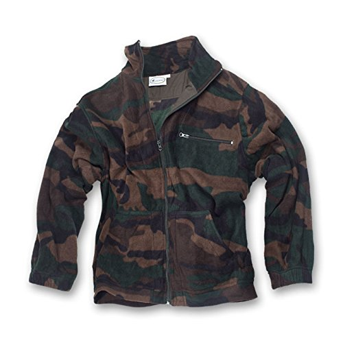 Herren Jacke Sweatshirt Jacke Fleece grün blau Camouflage Pail Winter Schnee Herren M Woodland Woodland Fleece-sweatshirt