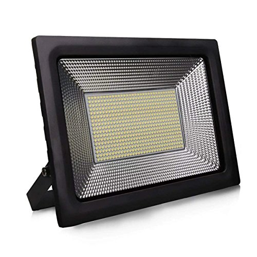 LED Floodlight 150W Day White 6500K 220V IP65 Waterproof Outdoor Flood Security Outdoor Lights 130 Degree Wide Beam Angle with 756pcs LEDS for Gardens
