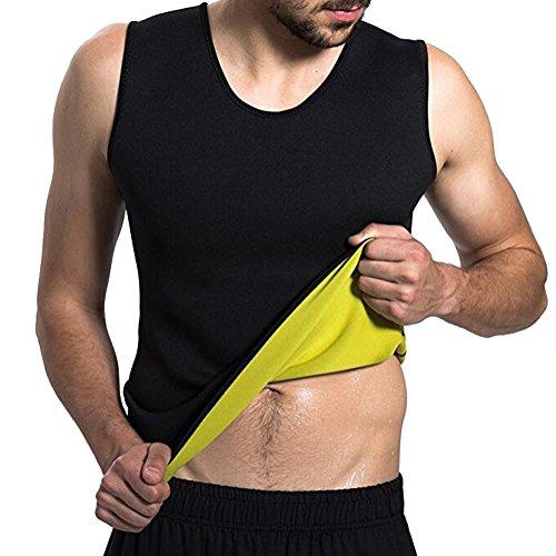 Männer Body Shaper Taille Trainer Weste Shirt Heißer Sweat Workout Tank Gewichtsverlust Shapewear Abnehmen Unterhemd