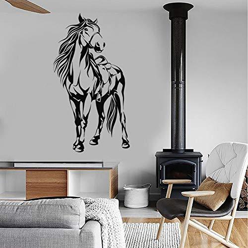 Jasonding Pferd Sattel Tier Vinyl Wandaufkleber Wohnkultur Wohnzimmer Aufkleber Diy Kunst Wandbild Tapete 56 * 104 Cm