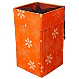 Uberlyfe Fold-Able Laundry Basket Bin Organizer Container For Dirty Clothes Storage Kitchen Bedroom Bathroom (LB-001269-SQORFLW)
