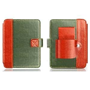 Étui Housse Case en cuir avec lampe intégrée Mulbess pour Kobo mini eReader- Vert