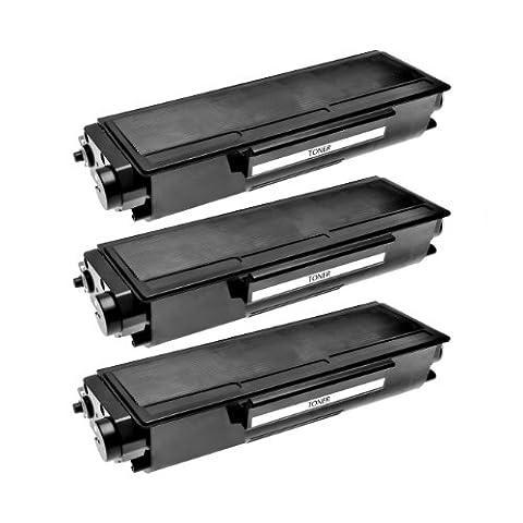 3 Toner TN-3170 für Brother HL-5240L HL-5250DN HL-5270DN HL-5280DW DCP-8060 MFC-8460DN MFC-8670DN MFC-8860DN MFC-8870DW DCP-8060 - TN3170 - Schwarz je 8.000 Seiten