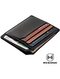 Credit Card Holder Wallets Men Rfid Blocking Baellerry Slim & Thin Pocket Id Coin Purse Money Clip (Black)