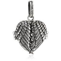 Engelsrufer Engelenvleugels medaillon voor dames 925 sterling zilver geoxideerd 20 mm