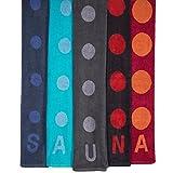 Point Saunatuch / Badetuch | viele Farben wählbar | 80 x 200 cm Baumwolle Frottee Handtuch | aqua-textil 0010684 türkis -