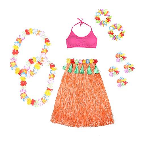 Venid-MASEE-Twelve-juego-de-csped-Artificial-juego-de-funda-de-para-faldas-de-mujer-de-baln-de-bailarina-de-Hawaiian-Hula-de-para-faldas-disfraz-infantil-flor-con-Colors-de-varios