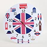 Baby Oodles London Theme Kids Wall Clock