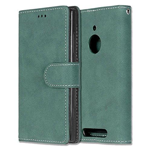 Solid Color Premium PU-Leder Tasche Cover matt Retro Flip-Ständer Case Wallet Fall mit Kartensteckplätze Photo Frames für Nokia Microsoft Lumia 830 ( Color : 4 , Size : Nokia Microsoft Lumia 830 ) 4