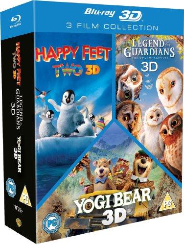Happy Feet 2 3D/Yogi Bear 3D/Legend Of The Guardians 3D (EN) [BOX] [Blu-ray 3D]+[Blu-ray] (Deutsche Sprache. Deutsche Untertite