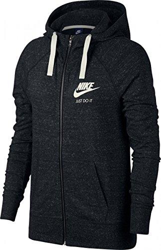 Nike Damen Vintage Kapuzen-Sweatshirt, schwarz (Black/Sail 010), S