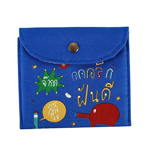 KFYOUXIN Brieftasche Tasche Kabelschutz Kopfhöreraufwicklung Animal Print Federmäppchen Einfache Geldbörse Neue Bleistifttasche wasserdichte Digitale Blue